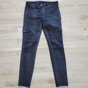 Grey Armani Exchange cargo jeans